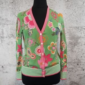 BODEN Floral Cardigan Green 16